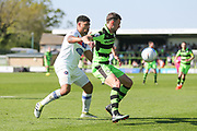 Forest Green Rovers Christian Doidge(9) holds the ball up during the Vanarama National League Play Off second leg match between Forest Green Rovers and Dagenham and Redbridge at the New Lawn, Forest Green, United Kingdom on 7 May 2017. Photo by Shane Healey.