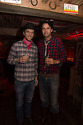 DUNCAN STIRLING; CHARLIE GILKES; , The launch of Beaver Lodge in Chelsea, a cabin bar and dance saloon, 266 Fulham Rd. London. 4 December 2014