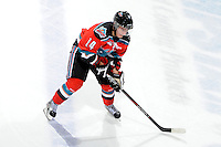 KELOWNA, CANADA, OCTOBER 29: Cody Chikie #14 of the Kelowna Rockets skates on the ice as the Kamloops Blazers visit the Kelowna Rockets  on October 29, 2011 at Prospera Place in Kelowna, British Columbia, Canada (Photo by Marissa Baecker/Shoot the Breeze) *** Local Caption *** Cody Chikie;