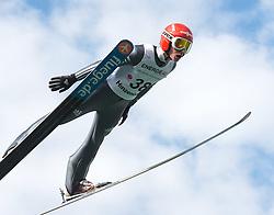 27.09.2015, Energie AG Skisprung Arena, Hinzenbach, AUT, FIS Ski Sprung, Sommer Grand Prix, Hinzenbach, im Bild Richard Freitag (GER) // during FIS Ski Jumping Summer Grand Prix at the Energie AG Skisprung Arena, Hinzenbach, Austria on 2015/09/27. EXPA Pictures © 2015, PhotoCredit: EXPA/ Reinhard Eisenbauer