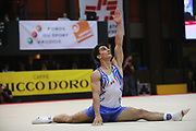 Marian Dragulescu, Roumania, on floor during the Arthur Gander Memorial,  Morges, Switzerland on 1 November 2017. Photo by Myriam Cawston.
