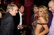 Nick Rhodes, Bryan Ferry, David LaChapelle and Pamela Anderson. Selfridges Las Vegas dinner hosted by  hon Galen , Hillary Weston and Allanah Weston. Selfridges Oxford St. 20 April 2005. ONE TIME USE ONLY - DO NOT ARCHIVE  © Copyright Photograph by Dafydd Jones 66 Stockwell Park Rd. London SW9 0DA Tel 020 7733 0108 www.dafjones.com