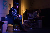 The Hyde Park Community Players performed the Pulitzer Prize and Tony Award winning play, &ldquo;Clybourne Park&rdquo; Friday, May 12th, 2017 and Sunday, May 14th, 2017 at the University Church located at 5655 S. University Ave. The play is an analysis of how the social dynamics of race have changed in 50 years.<br /> <br /> 3790 &ndash; Mike Herring as Tom and Paul Baker as Russ.<br /> <br /> Please 'Like' &quot;Spencer Bibbs Photography&quot; on Facebook.<br /> <br /> All rights to this photo are owned by Spencer Bibbs of Spencer Bibbs Photography and may only be used in any way shape or form, whole or in part with written permission by the owner of the photo, Spencer Bibbs.<br /> <br /> For all of your photography needs, please contact Spencer Bibbs at 773-895-4744. I can also be reached in the following ways:<br /> <br /> Website &ndash; www.spbdigitalconcepts.photoshelter.com<br /> <br /> Text - Text &ldquo;Spencer Bibbs&rdquo; to 72727<br /> <br /> Email &ndash; spencerbibbsphotography@yahoo.com
