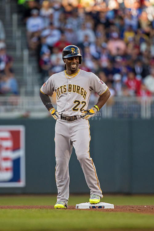 MINNEAPOLIS, MN- JULY 15: National League All-Star Andrew McCutchen #22 of the Pittsburgh Pirates during the 85th MLB All-Star Game at Target Field on July 15, 2014 in Minneapolis, Minnesota. (Photo by Brace Hemmelgarn) *** Local Caption *** Andrew McCutchen