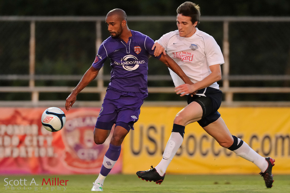 Orlando City's Matt Luzunaris (12) in action during the Lions game against the Kansas City Athletics in their US Open Cup game at the Seminole Soccer Complex on May 22, 2012 in Sanford, Fla. ..©2012 Scott A. Miller.