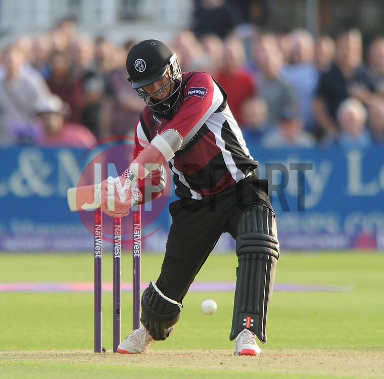 Tom Cooper of Somerset bats - Photo mandatory by-line: Dougie Allward/JMP - Mobile: 07966 386802 - 19/06/2015 - SPORT - Cricket - Bristol - County Ground - Gloucestershire v Somerset - Natwest T20 Blast