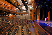 Commercial Interior Photographer of Maryland Interior Image of Performing Arts Center at Montgomery College, Bethesda, MD
