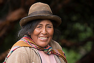 South America, Andes, Peru, Tambomachay, Cusco Province, Cusco District, near Cusco, local woman