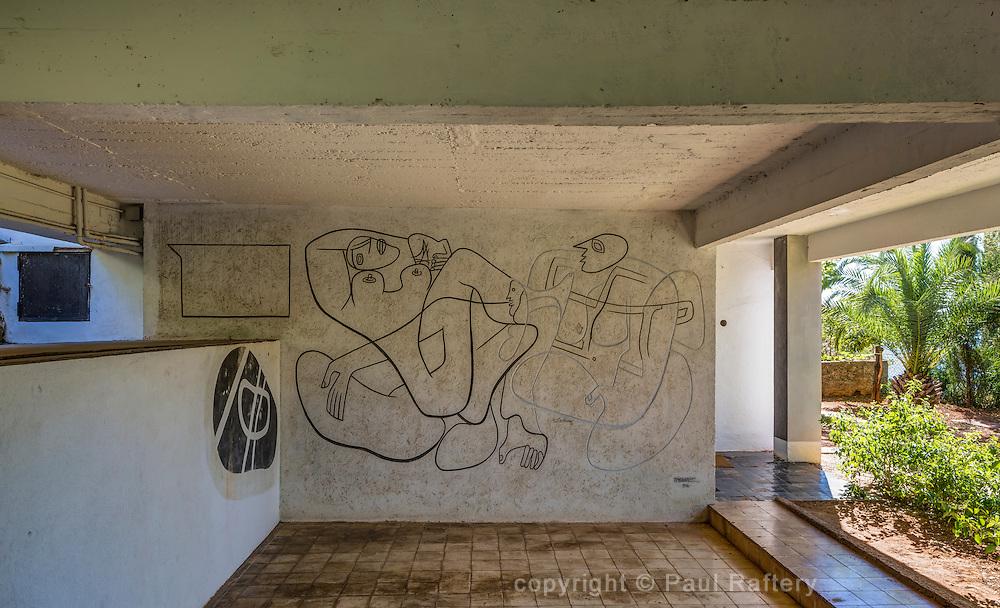 E-1207 Eileen Gray's modernist masterpiece at Cap Martin, France.