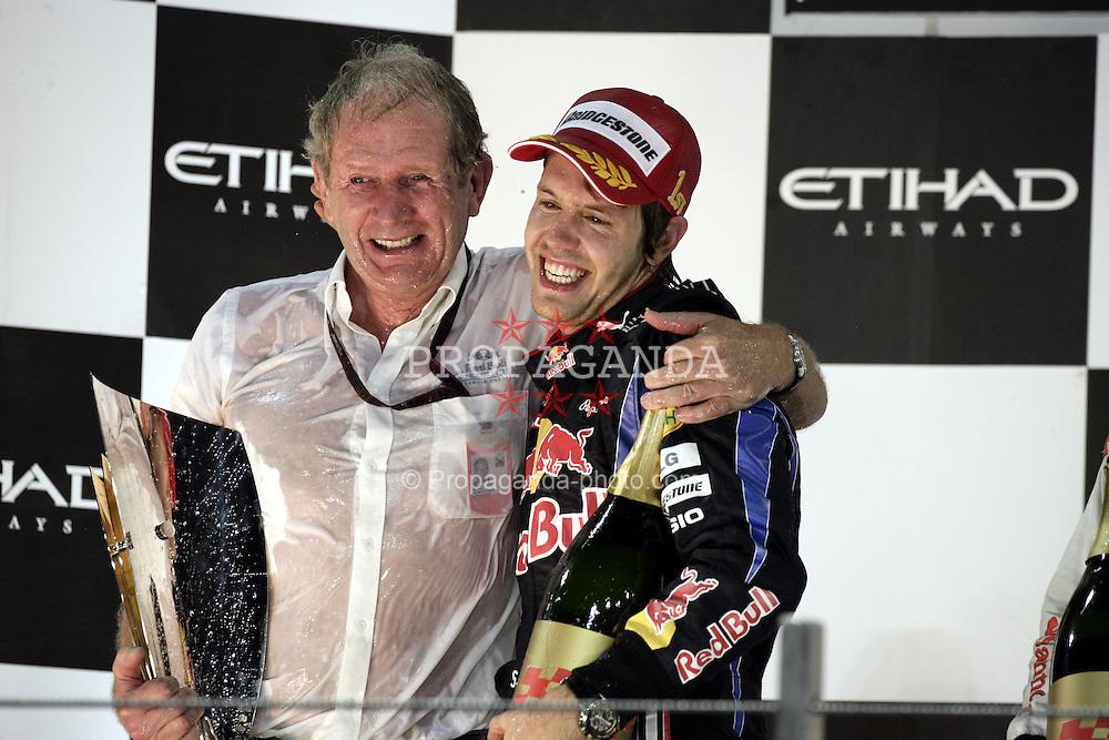 Motorsports / Formula 1: World Championship 2010, GP of Abu Dhabi, Dr. Helmut Marko (AUT, Red Bull Racing), 05 Sebastian Vettel (GER, Red Bull Racing),