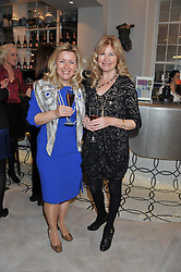 Left to right, ROSALEEN BLAIR winner of the 2007 Veuve Clicquot Business Woman Award and DEBBIE MOORE winner of the 1984 Veuve Clicquot Business Woman Award attending the Veuve Clicquot Business Woman Previous Winners Dinner held at Grace, 11c West Halkin Street, London on 16th April 2013.