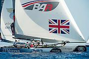 JP Morgan BAR. Day two of the Extreme Sailing Series at Nice. 3/10/2014