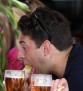 23.MAY.2013. MARBELLE<br /> <br /> TOWIES JAMES ARGENT SEEN EATING THREE MEALS IN THE SPACE OF ABOUT AN HOUR. FIRST ARG WAS SEEN AT OCEAN CLUB IN MARBELLA WITH HIS SHIRT OFF AND LAYING DOWN EATING PIZZA THEN HE HEADED TO A ITALIAN RESTAURANT IN MARBELLA WERE HE EAT ANOTHER 2 MEALS<br /> <br /> BYLINE: EDBIMAGEARCHIVE.CO.UK<br /> <br /> *THIS IMAGE IS STRICTLY FOR UK NEWSPAPERS AND MAGAZINES ONLY*<br /> *FOR WORLD WIDE SALES AND WEB USE PLEASE CONTACT EDBIMAGEARCHIVE - 0208 954 5968*