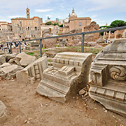ROME, Italy - Roman ruins on the Foro Romano