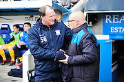 Reading Manager Brian McDermott and Preston North End Manager Brian McDermott during the Sky Bet Championship match between Reading and Preston North End at the Madejski Stadium, Reading, England on 30 April 2016. Photo by Jon Bromley.