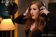 "Nashville-based vocalist Jaclyn Monroe in the studio recording her 2016 EP ""Confessions."""