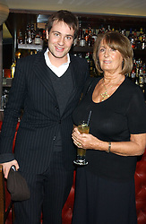 BEN GOLDSMITH and his mother LADY ANNABEL GOLDSMITH at the opening party for a new bowling alley All Star Lanes, at Victoria House, Bloomsbury Place, London on 19th January 2006.<br /><br />NON EXCLUSIVE - WORLD RIGHTS