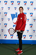 Warsaw, Poland - 2017 December 08: Tennis player Julia Oczachowska from Poland poses while Photo Session of Fed Cup Team of Polish Tennis Association at Mera Tennis Club on December 08, 2017 in Warsaw, Poland.<br /> <br /> Mandatory credit:<br /> Photo by © Adam Nurkiewicz / Mediasport<br /> <br /> Adam Nurkiewicz declares that he has no rights to the image of people at the photographs of his authorship.<br /> <br /> Picture also available in RAW (NEF) or TIFF format on special request.<br /> <br /> Any editorial, commercial or promotional use requires written permission from the author of image.