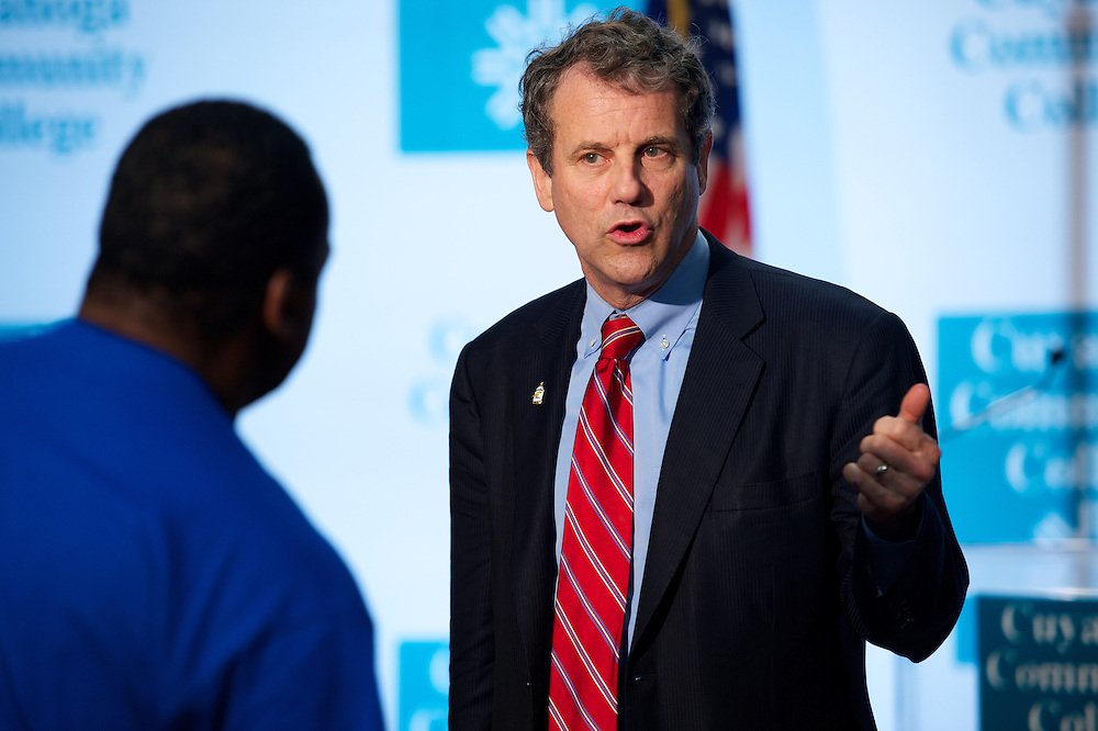 Senator Sherrod Brown Press Conference at UTC Metro campus on Sunday, April 15, 2012