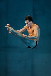 Patrick Hausding of Germany in action during the Mens 3m Springboard Preliminary - Mandatory byline: Rogan Thomson/JMP - 12/05/2016 - DIVING - London Aquatics Centre - Stratford, London, England - LEN European Aquatics Championships 2016 Day 4.