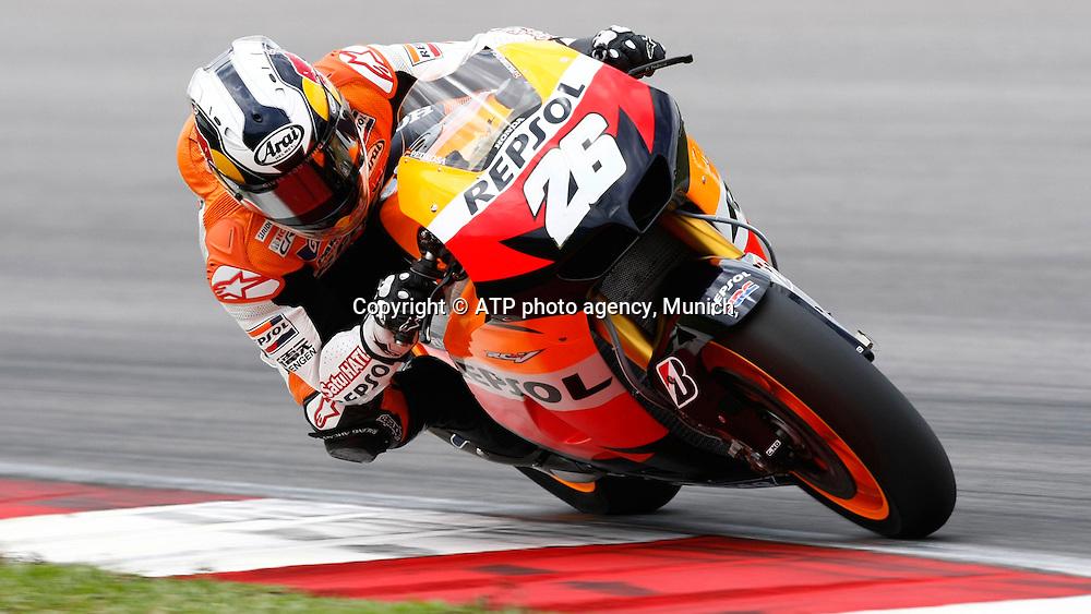 #26 Danny PEDROSA (Esp) Team Repsol Honda<br /> Moto Grand Prix 2012 - SEPANG Circuit, Malaysia near Kuala Lumpur . MotoGP class, motorcycle racing -  Motorrad GP - Fee liable image - copyright &copy; ATP Thinakaran SHANMUGAM