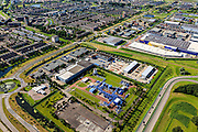 Nederland, Zuid-Holland, Barendrecht, 15-07-2012; Carnisselande, Vaanpark. NAM locatie Barendrecht met gasbehandelingsinstallatie...QQQ.luchtfoto (toeslag), aerial photo (additional fee required).foto/photo Siebe Swart