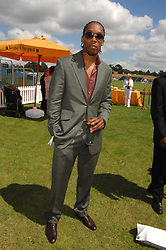 Singer LEMAR at the final of the Veuve Clicquot Gold Cup 2007 at Cowdray Park, West Sussex on 22nd July 2007.<br />