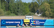 Brandenburg. GERMANY. GBR W4X moving past the finishing line at the<br />