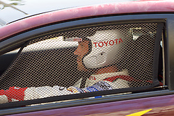 LONG BEACH, CA - APR 15: Actor Brian Austin Green waits in his car for a practice run in the Celebrity padlock compound at the Toyota Pro/Celebrity Race 2011 during the 37th Long Beach Grand Prix.  Photo by Eduardo E. Silva