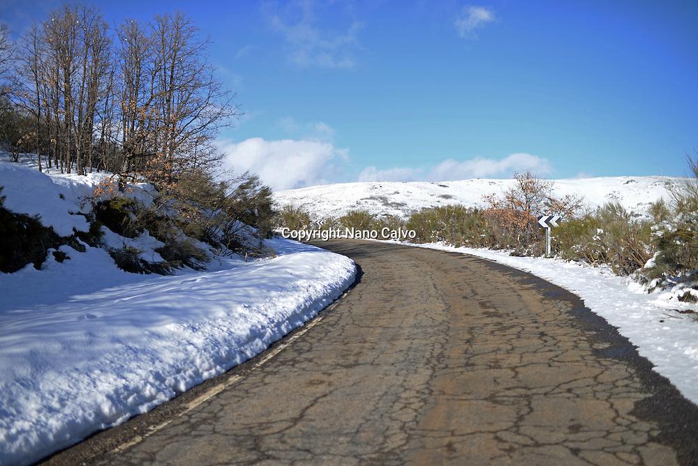 Winter landscape in Vigo de Sanabria, Zamora