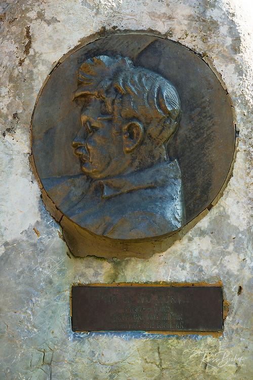 Memorial to Ivo Horvat (famous botanist who mapped the park), Risnjak National Park, Croatia