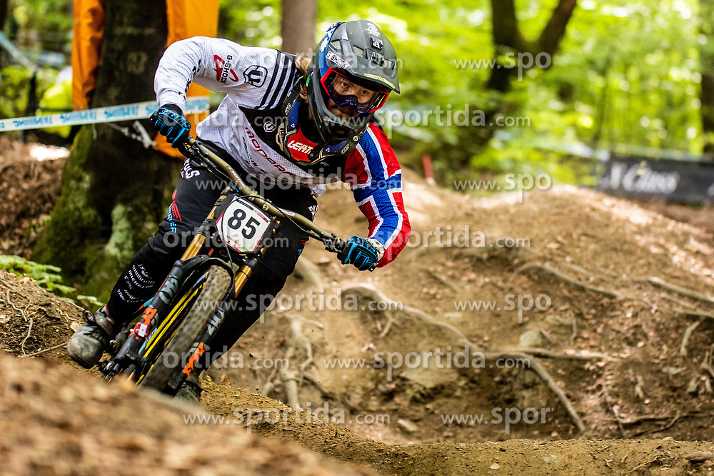 Brage Evensen Vestavik of Norway during Mercedes-Benz UCI Mountain Bike World Cup competition final day in Bike Park Pohorje, Maribor on 28th of April, 2019, Slovenia.  . Photo by Grega Valancic / Sportida