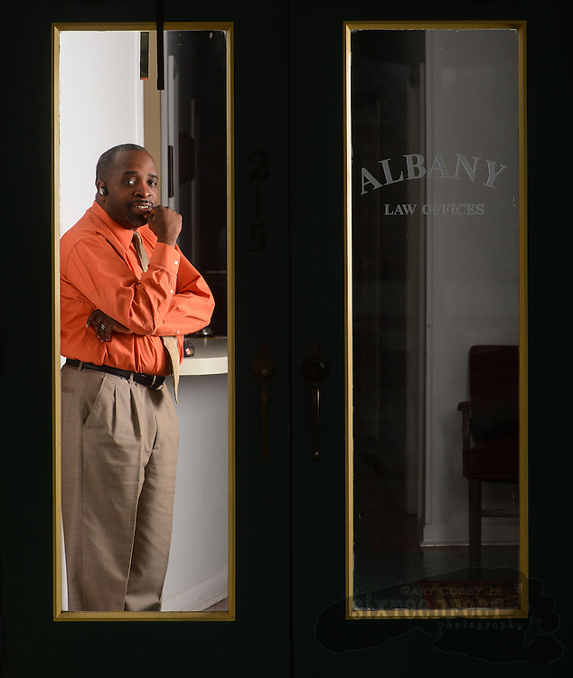 Gary Cosby Jr./Decatur Daily    Paul Holland is one of the few African American attorneys practicing in Morgan County.