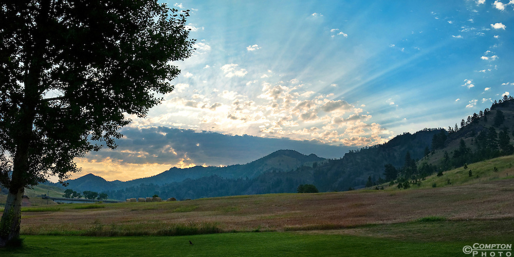 Sunrise in the foothills of the Montana Rockies