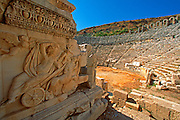 TURKEY, GREEK AND ROMAN Perge; theatre with Dionysus relief