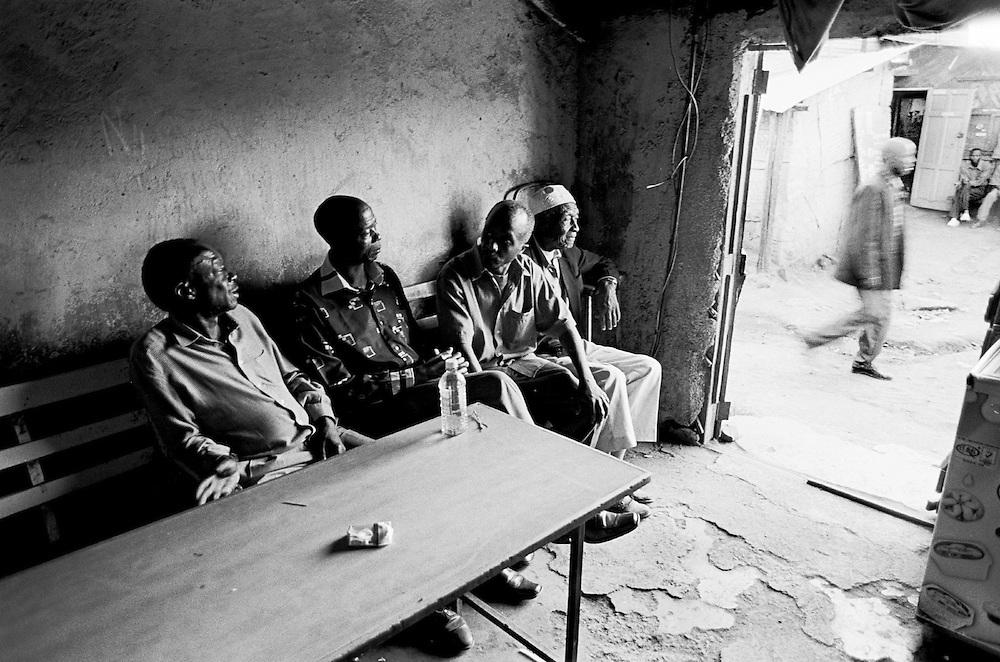 Nubian Elders in a soda shop in Makina.