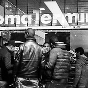 Rome - Termini Station boys, including many minors mostly Egyptians, North Africans find themselves daily before the windows of McDonald's across from the entrance of Termini Station in Via Giolitti.
