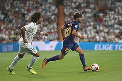 August 16, 2017 - Madrid, Spain - Marcelo and Sergi Roberto. Real Madrid defeated Barcelona 2-0 in the second leg of the Spanish Supercup football match at the Santiago Bernabeu stadium in Madrid, on August 16, 2017. (Credit Image: © Antonio Pozo/VW Pics via ZUMA Wire)