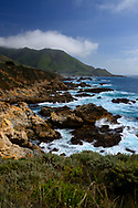 view from the Pacific Coast Highway along the Coast of California