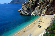 Kaputas beach near Kalkan, Antalya province, Turkey
