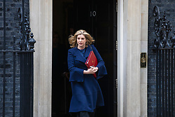 © Licensed to London News Pictures. 11/06/2019. London, UK. Defence Secretary Penny Mordaunt leaves 10 Downing Street after the Cabinet meeting. Photo credit: Rob Pinney/LNP