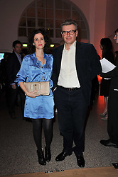MOLLIE DENT-BROCKLEHURST and her husband DUNCAN WARD at the TOD'S Art Plus Drama Party at the Whitechapel Gallery, London on 24th March 2011.