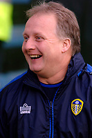Photo: Daniel Hambury.<br />Crystal Palace v Leeds United. Coca Cola Championship. 04/03/2006.<br />Leeds' manager Kevin Blackwell is all smiles.