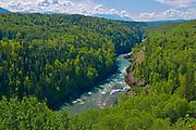 Skeena River. Hazelton Mountains of the Coast Mountains, Near Kispiox, British Columbia, Canada