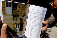 Helmand Province, Lashkargah  City. A book depicting the American abuse of Muslim prisoners in Iraq and Guantanamo, circulates in Helmand.