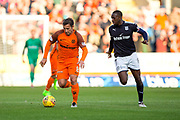 Dundee United forward Scott McDonald (#8) drives the ball forward followed by Dundee midfielder Glen Kamara (#8) during the Betfred Scottish Cup match between Dundee and Dundee United at Dens Park, Dundee, Scotland on 9 August 2017. Photo by Craig Doyle.