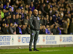 WIGAN, ENGLAND - Monday, February 19, 2018: Wigan Athletic's manager Paul Cook during the FA Cup 5th Round match between Wigan Athletic FC and Manchester City FC at the DW Stadium. (Pic by David Rawcliffe/Propaganda)
