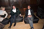ZARA GORDON LENNOX; ROBERT WILSON; TORQUHIL IAN CAMPBELL, DUKE OF ARGYLL, Perdurity: A Moving Banquet of Time. Royal Salute curates a timeless evening at Hampton Court Palace with Marcos Lutyens, 2 June 2015.