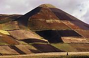 Ploughed arable landscape characteristic of Chimborazo Province, Ecuador