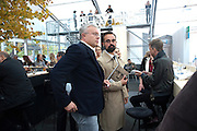 ALEXANDER LEBEDEV; EVEGENY LEBEDEV, Opening of Frieze 2009. Regent's Park. London. 14 October 2009 *** Local Caption *** -DO NOT ARCHIVE-© Copyright Photograph by Dafydd Jones. 248 Clapham Rd. London SW9 0PZ. Tel 0207 820 0771. www.dafjones.com.<br /> ALEXANDER LEBEDEV; EVEGENY LEBEDEV, Opening of Frieze 2009. Regent's Park. London. 14 October 2009